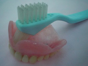 入れ歯清掃用ブラシ