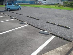 広い駐車場が完成いたしました☆